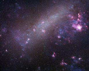 Die Große Magellansche Wolke. Eine neue Forschungsarbeit hat 18 ungleiche Doppelsternsysteme in dieser benachbarten Galaxie identifiziert. (Copyright Robert Gendler and Josch Hambsch 2005)