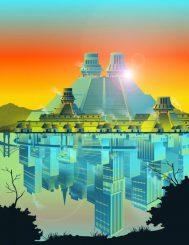 Die grundlegenden organisatorischen Bestandteile moderner Städte waren bereits in antiken Siedlungen im Tal von Mexiko vorhanden. (Gabriel Garcia for the Santa Fe Institute)