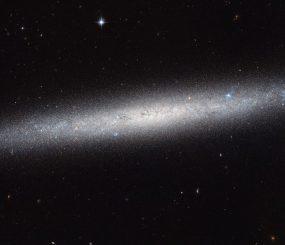 Hubble-Aufnahme der Spiralgalaxie NGC 5023. (ESA / Hubble & NASA)