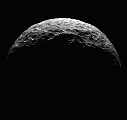 Der Zwergplanet Ceres, aufgenommen von der Raumsonde Dawn. (NASA / JPL-Caltech / UCLA / MPS / DLR / IDA)