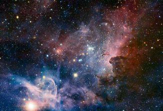 Infrarotmosaik des Carinanebels vom Very Large Telescope der Europäischen Südsternwarte (ESO). (ESO / T. Preibisch)