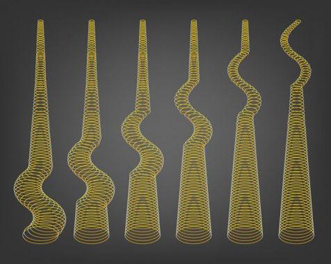 Diese Illustration zeigt die Ausbreitung der Alfvén-Wellen von der Basis der Teilchenjets im System des Schwarzen Lochs BL Lacertae. (NASA / JPL-Caltech)