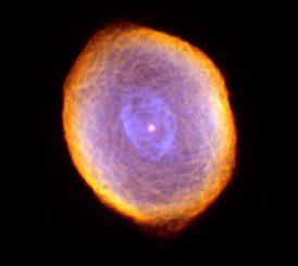 Der planetarische Nebel IC 418, aufgenommen vom Weltraumteleskop Hubble. (NASA / ESA and The Hubble Heritage Team STScI / AURA)