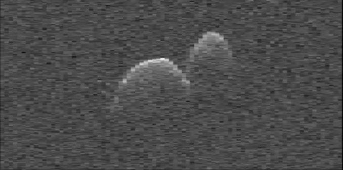 Radaraufnahme des Asteroiden 1999 JD6. (NASA / JPL-Caltech / NRAO)