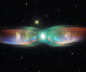 Neue Hubble-Aufnahme des Schmetterlingsnebels. (ESA / Hubble & NASA; Acknowledgement: Judy Schmidt)