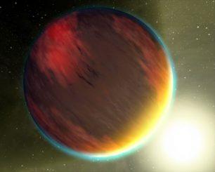 Künstlerische Darstellung eines Hot Jupiter. (NASA)