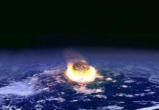 Illustration eines Asteroideneinschlags auf der Erde. (NASA)