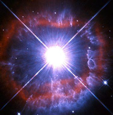 Hubble-Aufnahme des Sterns AG Carinae, einem Leuchtkräftigen Blauen Veränderlichen. (ESA / Hubble & NASA)