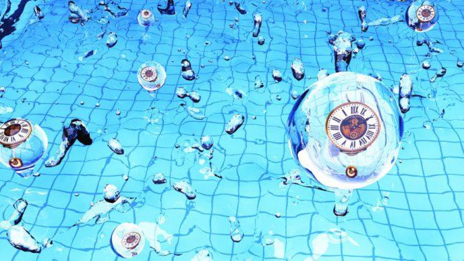Eine neue Studie besagt, dass schwingende, schwere Teilchen als eine Art Uhr benutzt werden könnten, um die Geburt des Universums zu untersuchen (Künstlerisches Symbolbild). (Yi Wang and Xingang Chen)