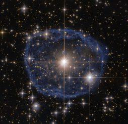 Hubble-Aufnahme des Wolf-Rayet-Sterns WR 31a. (ESA / Hubble & NASA; Acknowledgement: Judy Schmidt)