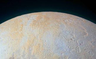 Plutos Nordpolarregion, aufgenommen von der Raumsonde New Horizons. (NASA / JHUAPL / SwRI)