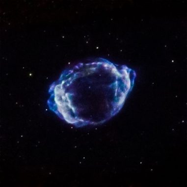 Der Supernova-Überrest G1.9+0.3. (NASA / CXC / CfA / S. Chakraborti et al.)