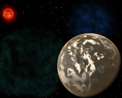 Diese künstlerische Darstellung zeigt einen Kohlenstoffplaneten im Orbit um einen sonnenähnlichen Stern. Blaue Gebiete stellen Wasser auf der Oberfläche des Planeten dar, potenzielle Habitate für außerirdisches Leben. (Christine Pulliam (CfA), Sun image: NASA / SDO)