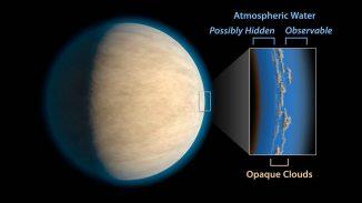 Heiße Jupiter besitzen oft Wolken oder Dunst in ihren Atmosphären. Das könnte Weltraumteleskope daran hindern, atmosphärisches Wasser unter den Wolken nachzuweisen. (NASA / JPL-Caltech)