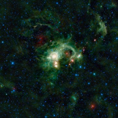 SH 2-235 im Sternbild Auriga (Fuhrmann), aufgenommen vom Weltraumteleskop WISE. (NASA / JPL-Caltech / UCLA)