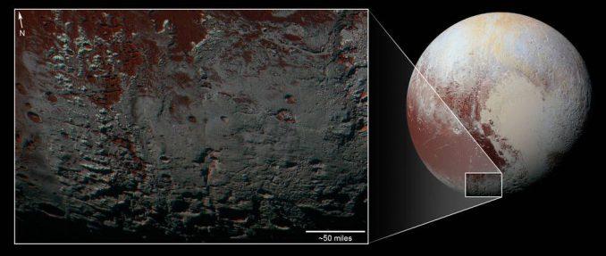 Pluto, aufgenommen von der NASA-Raumsonde New Horizons. (NASA / JHUAPL / SwRI)