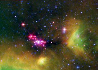 Diese Sternentstehungsregion liegt im Sternbild Schlange. (NASA / JPL-Caltech / UT Austin)