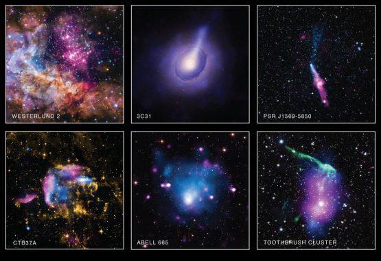 Diese sechs Bilder wurden anlässlich des American Archive Month veröffentlicht. (NASA / CXC / SAO)