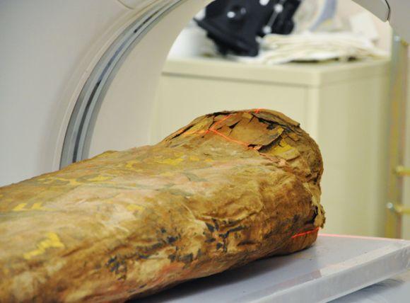 Die Mumie im CT (Photo by Melissa Sotelo, Spurlock Museum)