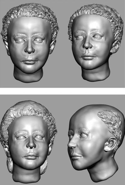 Digitale Rekonstruktion des Gesichts, basierend auf den neuen CT-Daten (Photo by Joe Mullins, National Center for Missing and Exploited Children)