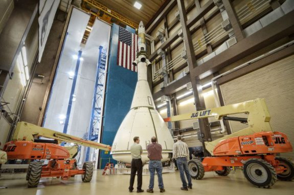 Das Orion-Multi-purpose Crew-Vehicle bei Lockheed Martin Space Systems in Denver (Colorado) (NASA)