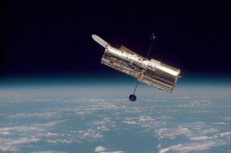 Das Hubble-Weltraumteleskop (Image courtesy NASA / STScI)
