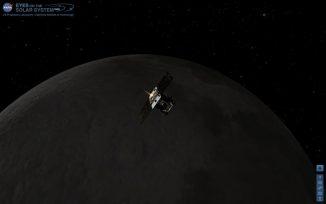 Künstlerische Darstellung der GRAIL-Mission (NASA / JPL-Caltech)