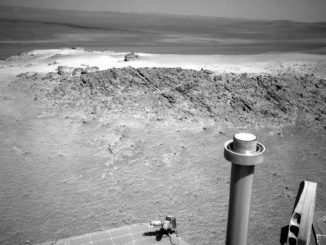 Greeley Haven, aufgenommen mit der Navigationskamera von Opportunity (NASA / JPL-Caltech)