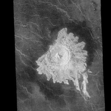 Der Einschlagkrater Aurelia auf der Venus (NASA / JPL)