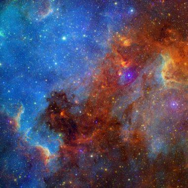Komposit-Aufnahme des Nordamerika-Nebels (NASA / JPL-Caltech)
