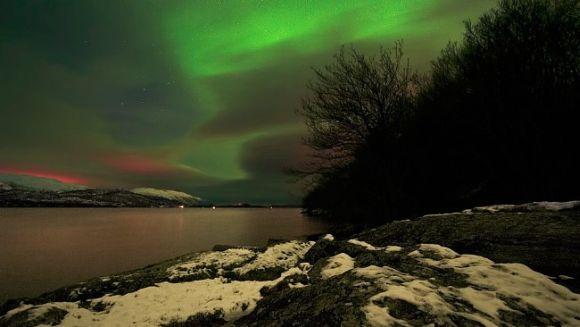 Nordlicht über Førde / Sogn og Fjordane, Norwegen (Wim Lassche)