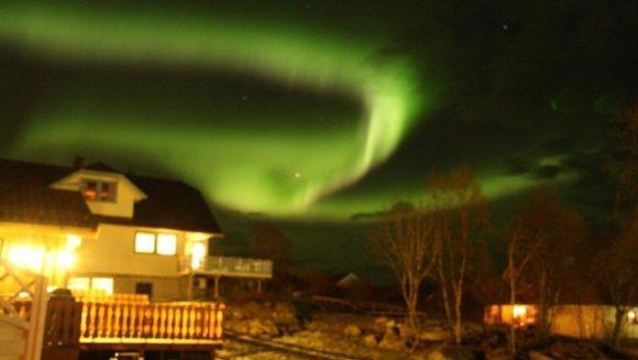 Nordlicht über Melbu / Vesterålen, Norwegen (Kerstin Barosen)