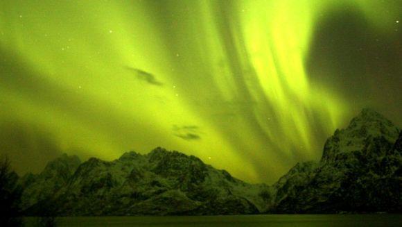 Nordlicht über Digermulen, Norwegen (Geir Svendsen)