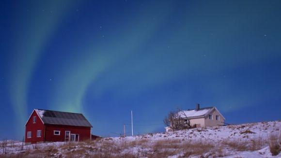Nordlicht über Andøya, Norwegen (Anette Jensen)