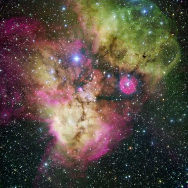 Der Sternhaufen NGC 2467 und die ihn umgebende Sternentstehungsregion (ESO)