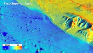 LiDAR-Aufnahme der Erdbebenregion in Nordmexiko (UC Davis / W.M. Keck Center for Active Visualization in Earth Sciences / Michael Oskin)