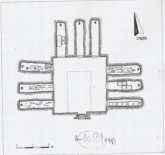 Kloners Originalkarte (Israel Antiquities Authority)