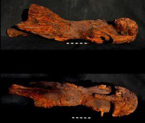 Dieses seltene Exemplar einer königlichen Statue aus Holz könnte die Pharaonin Hatschepsut darstellen (Photo: Mary-Ann Pouls Wegner)