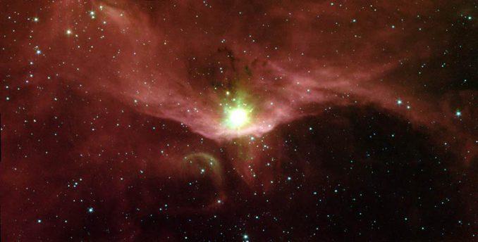Die Sternentstehungsregion Sharpless 140, aufgenommen vom Weltraumteleskop Spitzer (NASA / JPL-Caltech / G. Melnick (Harvard-Smithsonian CfA))