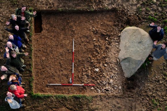 Luftbild der Ausgrabungsstätte (Image copyright Adam Stanford, Tom Wellicome and George Nash)
