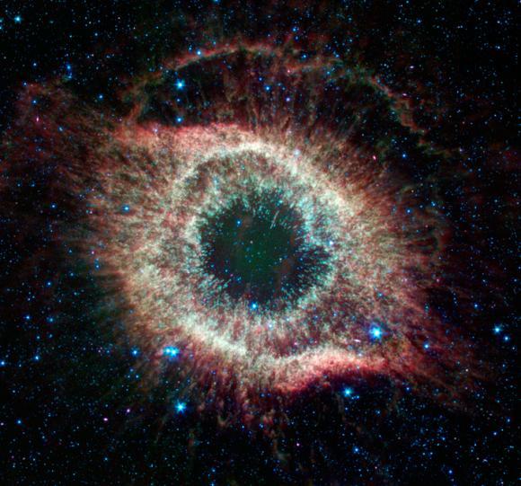 Der Helixnebel (NASA / JPL-Caltech / J. Hora (CfA) & W. Latter (NASA / Herschel))