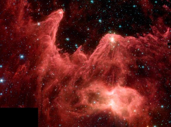 """Die """"Mountains of Creation"""" (""""Berge der Schöpfung"""") (NASA / JPL-Caltech / CfA)"""