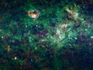 Die Region der Sternbilder Kassiopeia und Kepheus im Infrarotspektrum. (NASA / JPL-Caltech / UCLA)