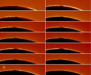 Der Venusbogen während des Transits im Jahr 2004, aufgenommen von dem Amateur-Astronom André Rondi mit einem 10-cm-Refraktor. (André Rondi)