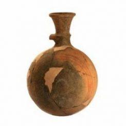 Ein kugelförmiger Krug, der für die Aufbewahrung und den Handel mit Öl, Wein und anderen Gütern benutzt wurde. (Image courtesy of American Friends of Tel Aviv University)