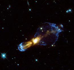 "Der ""Rotten Egg Nebula"", aufgenommen vom Hubble Space Telescope. (NASA / ESA & Valentin Bujarrabal (Observatorio Astronomico Nacional, Spain))"