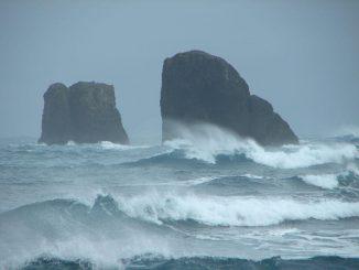 Felsen vor der Fildes-Halbinsel, King George Island / Antarktis (BAS / CSIRO)