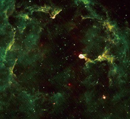 Der Emissionsnebel IC 1396, aufgenommen vom Weltraumteleskop AKARI. (JAXA)