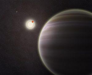 Künstlerische Darstellung des Planeten PH1 (im Vordergrund), der zwei Sterne umkreist. (Haven Giguere / Yale)