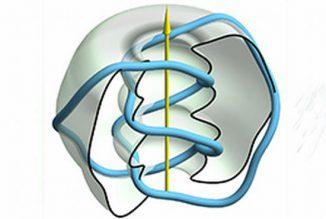 Virtuelle Darstellung eines Lichtknotens in dem neuen Modell. (Australian National University)